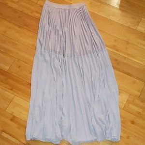 Bcbgmaxazria purple accordion maxi skirt xs